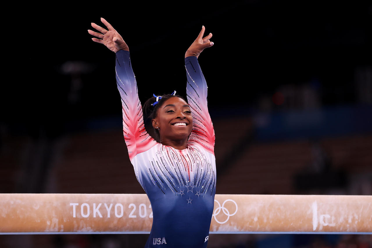 Simone Biles wins bronze in balance beam after withdrawing from other Tokyo Olympics events