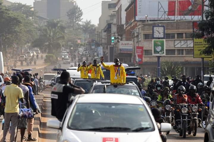 Ugandan medal winners from the Tokyo Olympics have been gifted with cars.