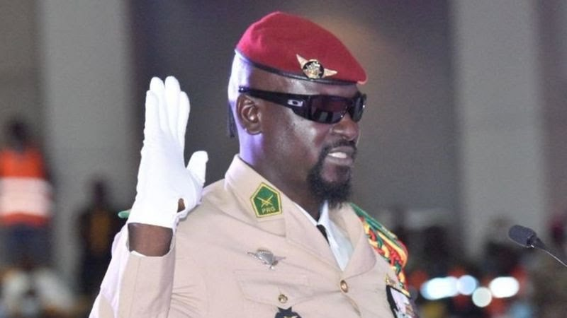 Guinea coup leader Mamady Doumbouya sworn in as interim president