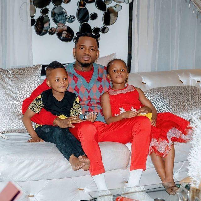 Diamond Platnumz ignored by all his kids