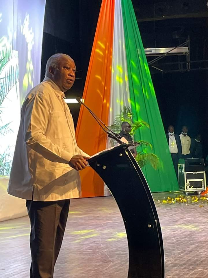 Former president, Laurent Gbagbo announces his retirement